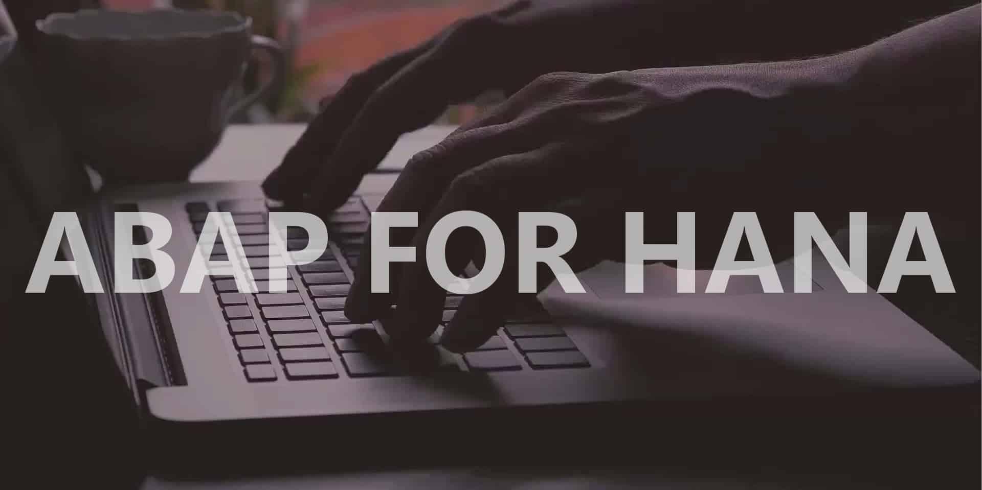ABAP for Hana